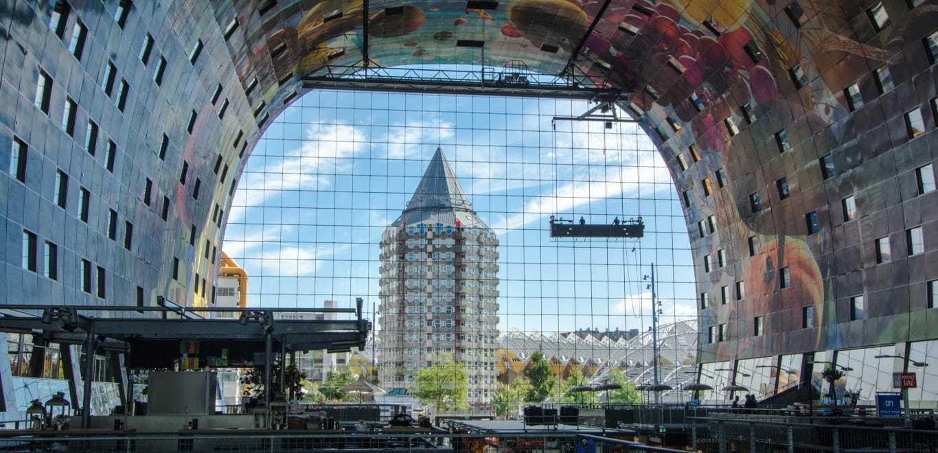 Architecture Route in Rotterdam, Architectuur route in Rotterdam, Markthal, Blaak, Erasmusbrug, Erasmusbridge, Museumpark, Schouwburgplein, Rotterdam Central Station, Rotterdam Centraal Station, Luchtsingel