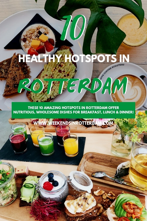 Are you in search for a healthy hotspot in Rotterdam? There are plenty of great hotspots that offer nutritious, wholesome meals. In this article you can find 10 healthy hotspots in Rotterdam that are definitely worth a visit! #Rotterdam #healthyhotspots #healthyrotterdam #WeekendsinRotterdam