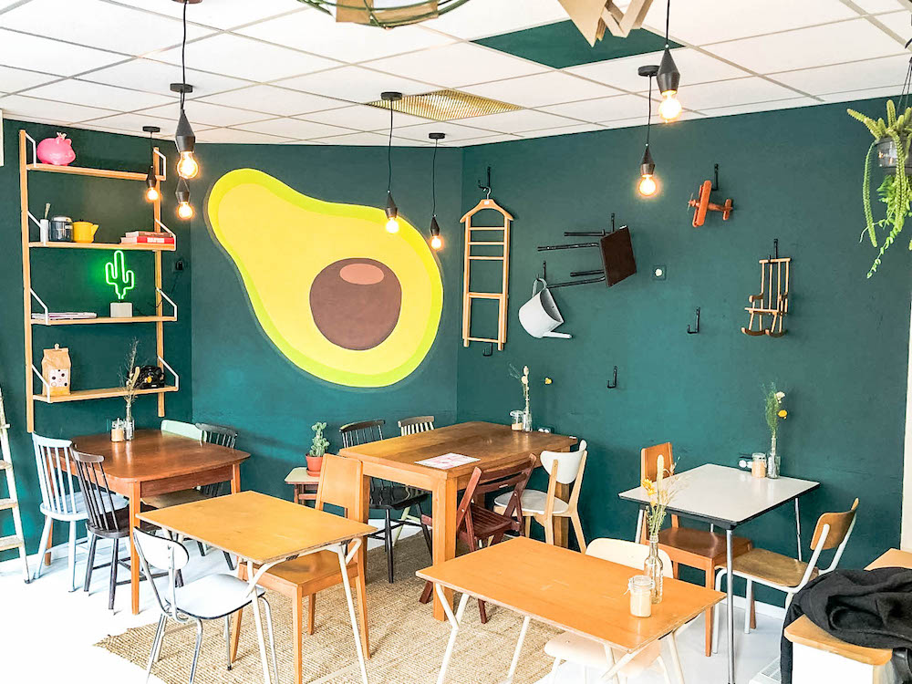 The famous Avocado Wall at Breakfast in Rotterdam HQ in Blijdorp!