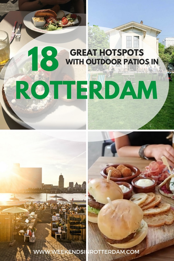 The sun is out! It's time to look for a great hotspot in Rotterdam where you can sit outside and have some drinks and amazing food. Rotterdam has a lot of good options of hotspots in the center where you can enjoy the sun! Below we share 18 great hotspots with outdoor patios in Rotterdam! #Rotterdam #Nederland
