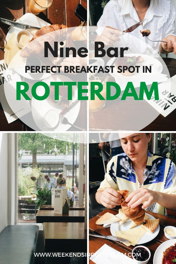 Nine Bar Rotterdam is the perfect place for breakfast when you're in Rotterdam, the Netherlands! Located in a great spot, Maho Kwartier, it's the perfect hotspot to start your day! Here they serve delicious continental breakfast, toast with jam and yoghurt and much more #breakfastinrotterdam #thenetherlands #Europe #NineBarRotterdam