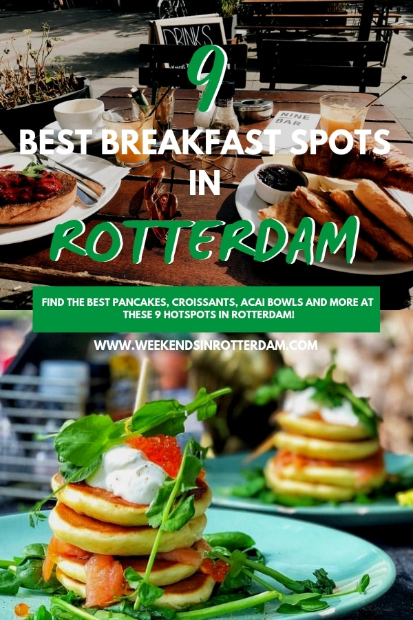 Are you looking for a great breakfast spot in Rotterdam? Check out this post with the 9 best breakfast spots in Rotterdam! At these hotspots you can order the tastiest pancakes, eggs, smoothie bowls and more! #Rotterdam #theNetherlands