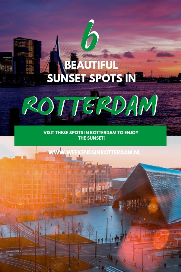 Do you want to enjoy a beautiful sunset in Rotterdam (the Netherlands)? Our blogger Fatima shares 6 incredible spots to enjoy the sunset in Rotterdam. These places are perfect to take some great photos in Rotterdam. #Rotterdam #Weekendsinrotterdam #Netherlands