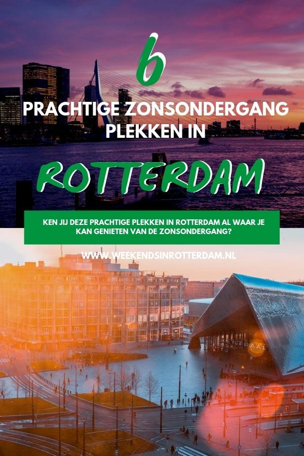 Wil je de zonsondergang bekijken in Rotterdam? Blogger Fatima tipt deze 6 prachtige zonsondergang plekken in Rotterdam. Deze plekken zijn geweldig om te genieten van de zonsondergang en om prachtige foto's te maken van onze stad. #Rotterdam #WeekendsinRotterdam #zonsondergangrotterdam