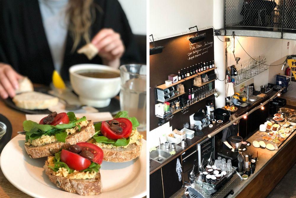 Hopper Rotterdam is een leuke plek voor lunch. Op hun krijtbord kun je altijd zien wat die dag op het menu staat. Denk aan een lekker soepje, bruschetta's en tosti's. Het smaakt altijd super vers en vol van smaak!