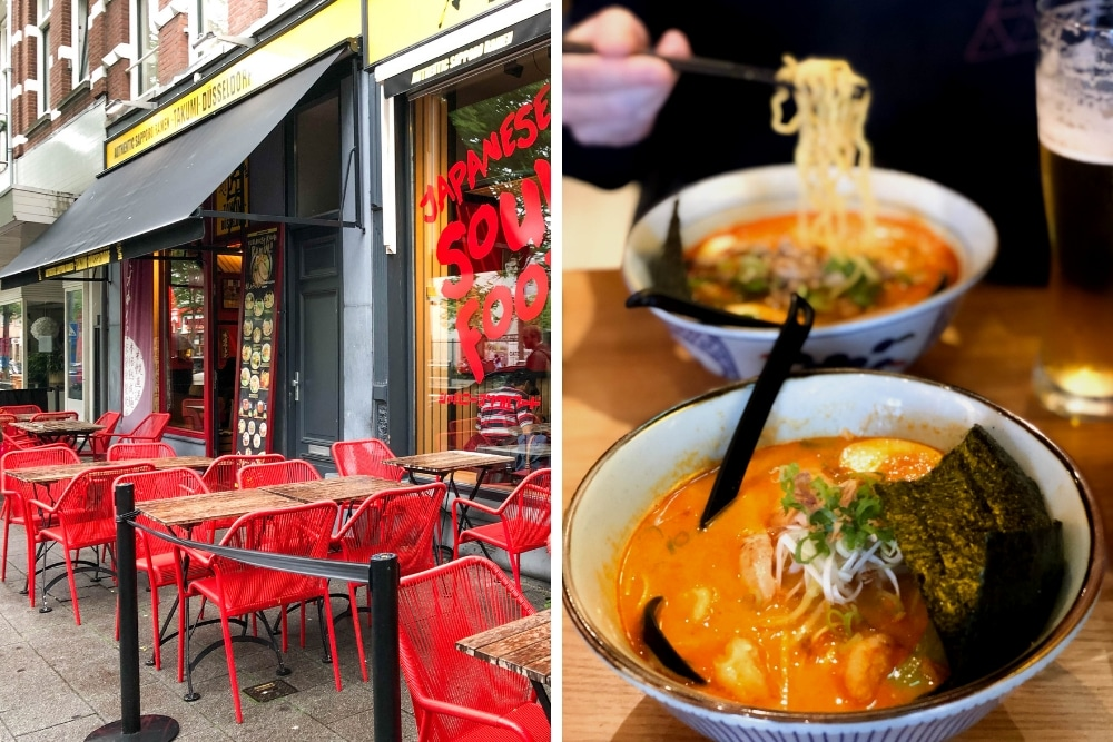 Takumi in Rotterdam is an excellent spot for delicious ramen! If you're looking for a great ramen bar when it's sunny, Takumi is a great spot because they have a nice terrace. If you're looking for comfort food during colder, rainy days, Takumi is also a great pick because of their great interior!