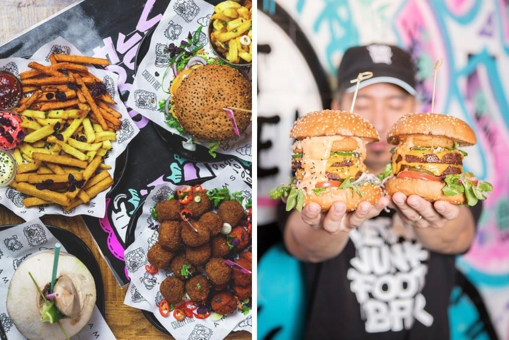 De Vegan Junkfood Bar is de ideale plek als je op zoek bent naar goede vleesvervangers. Burgers, hotdogs, shoarma; noem maar op. En geloof me, je merkt echt geen verschil!