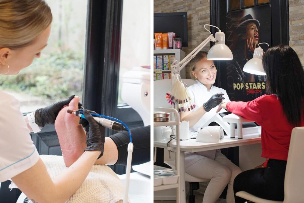 Heerlijke mani- en pedicures, hand- en voetmassages en natuurlijk een mooie (gel)lak om het af te maken. Op de Nieuwe Binnenweg vind je Happy GelLac by Anita, die tevens is gespecialiseerd in het uitvoeren van de e-manicure, ook wel de bekend als de Russische manicure, waarbij de gellak of gelnagel heel dicht bij de nagelrand wordt gezet.