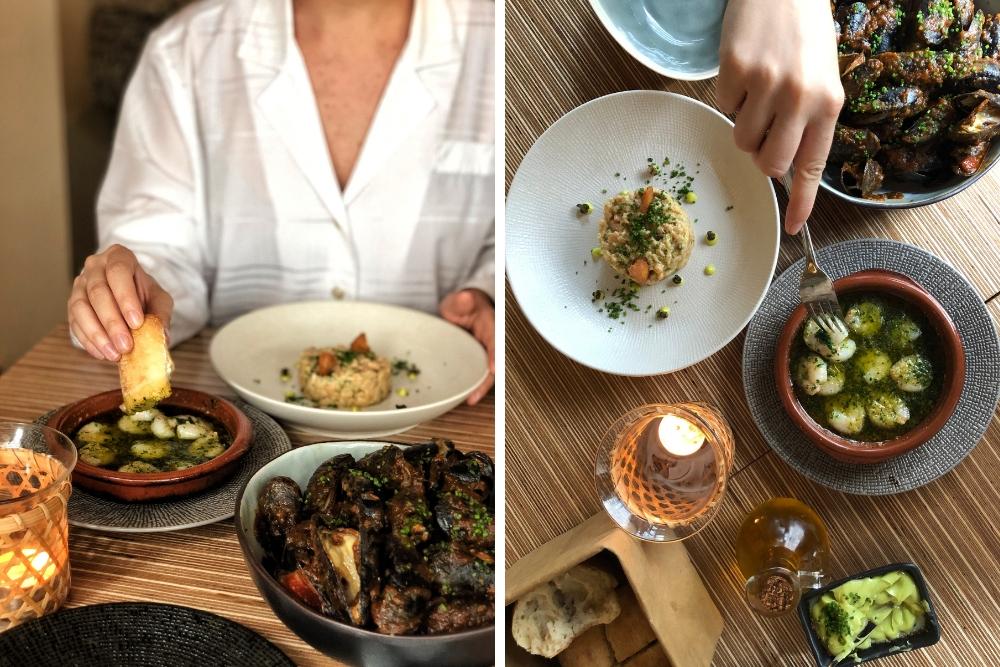 BijEuskadiserveren ze authentieke ingrediënten uit Baskenland, een Spaanse regio waar liefde voor eten diep geworteld is in hun cultuur. De Baskische koks zijn niet bang om te experimenteren, dus bij Euskadi kun je unieke gerechten van hoge kwaliteit verwachten. Je zult geen beroemde pintxos vinden op het menu van Euskadi, maar heerlijke vlees- en visgerechten gemaakt met speciale ingrediënten uit Baskenland.