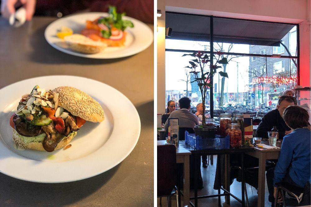 The Bagel Bakery zit al sinds 1999 op de Schilderstraat, in het verlengde van de Witte de Withstraat. De naam zegt het al, maar hier verkopen ze heerlijke bagels met van alles erop en eraan. Naast bagels kun je hier ook terecht voor croissantjes, pannenkoeken, burgers, mezzespecials, soep en zoetigheden. Genoeg voor een lekkere lunch in Rotterdam!