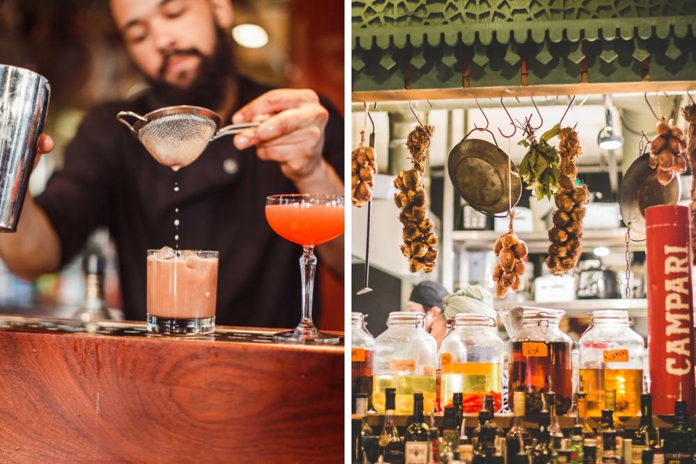 Aan de hand van Ayla's bijzondere infusies, creëert de bartender hier de lekkerste cocktails. Dit betekent dat de basis van de cocktail - zoals de gin, wodka en jenever - is voorzien van heerlijke kruiden en specerijen. Denk aan smaken zoals Concord druif, grapefruit, rozenblad, rozemarijn, venkel, basilicum en Spaanse peper. Alle cocktails sluiten heerlijk aan bij hun gerechten, maar zijn ook zeker het proberen waard tijdens een avondje aan de bar.