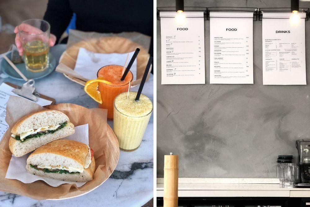 Bij de Bollenbar in Rotterdam verkopen ze heerlijke Italiaanse bollen en een goede kop koffie. Neem plaats in hun stijlvolle, minimalistische zaak en bestel een van de vele vers gemaakte broodjes voor lunch met een kop koffie of lekkere smoothie.