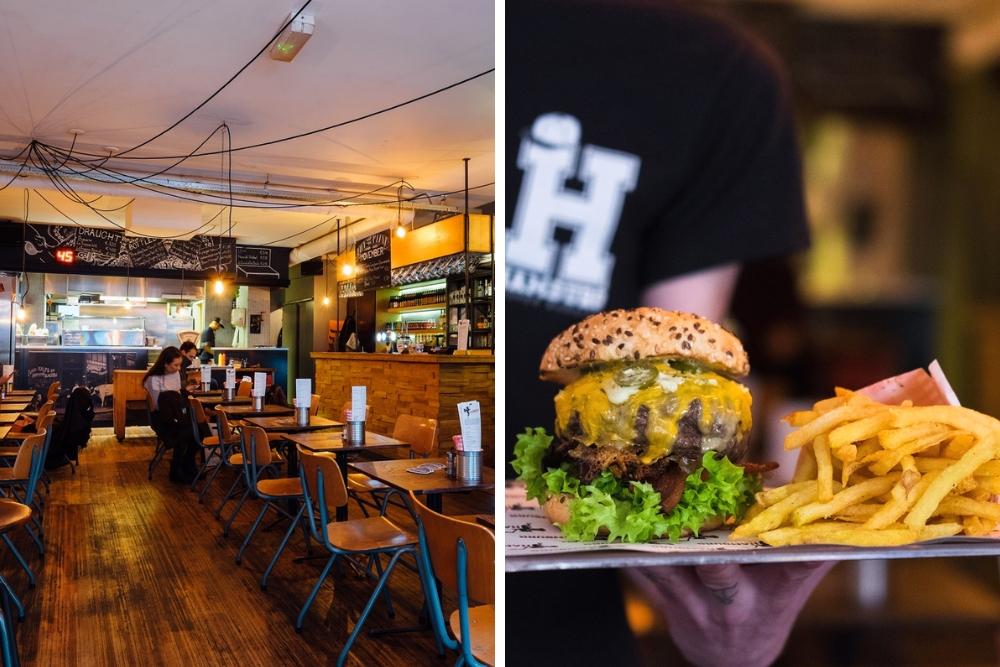 Bij Hamburg serveren ze 'proper' burgers, gemaakt van verse ingrediënten en 'eerlijk' vlees. Met je drankje erbij en een lekker patatje, heb je hier voor rond de 15 euro een goed gevulde buik! Betaalbaar én vullend :).
