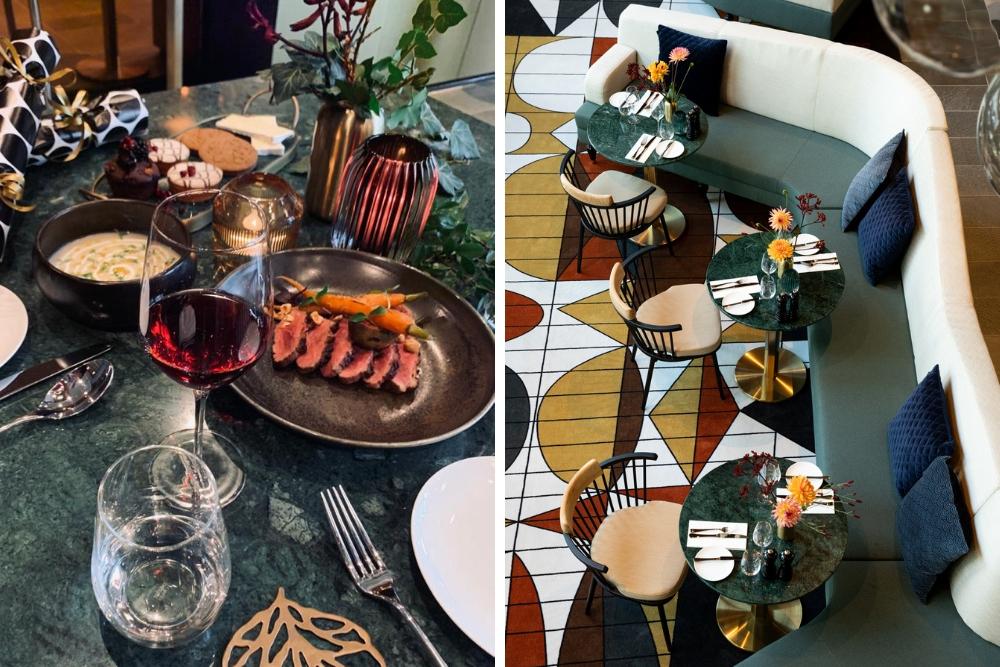 Restaurant Didot34 is onderdeel van het gloednieuwe The Slaak Rotterdam, a Tribute Portfolio Hotel, en misschien wel de perfecte locatie als je op zoek bent naar de volledige kerstbeleving. Tijdens de kerstdagen bieden zij namelijk overnachtingen aan van €99,- per kamer per nacht én hebben ze een 4-gangen menu volledig in kerstsferen! Denk aan heerlijke gerechten, entertainment, live jazz, een drankje aan hun prachtige bar om vervolgens neer te ploffen op je eigen luxe hotelkamer.
