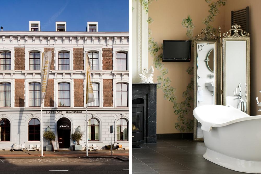 Voor een romantisch, warm verblijf in Rotterdam is een boutique hotel zoals Suite Hotel Pincoffs Rotterdam de perfecte keuze. Het rijksmonument waarin het hotel is gevestigd is een voormalig douanekantoor uit 1879 met veel authentieke details. De locatie aan de rivier biedt een prachtig uitzicht op de befaamde Erasmusbrug.