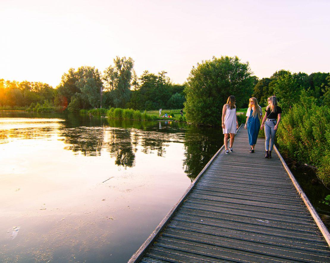 Omringd door het Kralingse bos, is deze plas dé plek waar de Rotterdammer heengaat tijdens een zomerse dag. Als de zon schijnt staat het vol met barbecuende mensen, spelende kinderen en vrienden die genieten van een drankje.