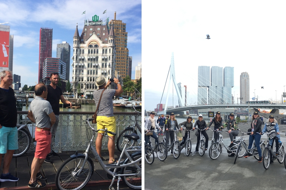 Met de highlight fietstour van seeRotterdam brengt de gids je langs alle bezienswaardigheden van de stad. Je begint in het centrum, fietst naar de Coolsingel, de Willemsbrug, Erasmusbrug, over de Kop van Zuid en richting de Markthal. Ook de Kubuswoningen en de Oude Haven mogen natuurlijk niet worden overgeslagen.