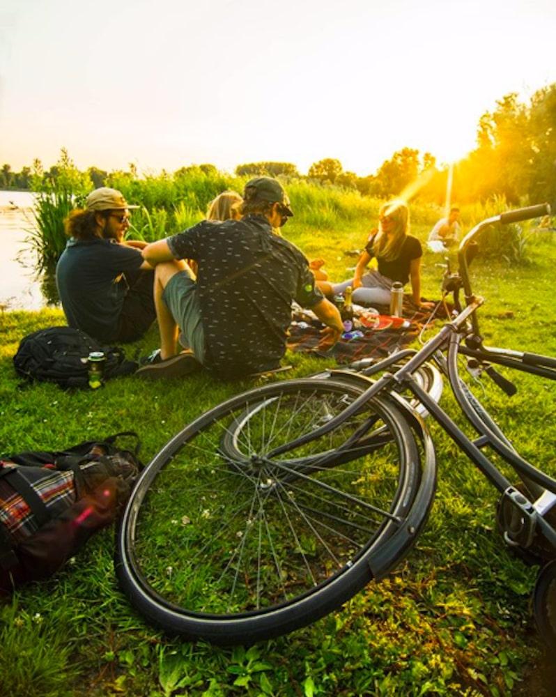 Aan de Kralingse Plas lig je altijd heel gezellig. Het is dan ook de ideale plek voor een picknick in Rotterdam met een groep vrienden.