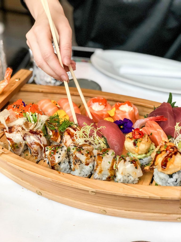 The sushi boat at Mood Rotterdam! A great place for sushi in Rotterdam.