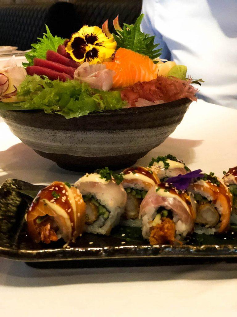 Overheerlijke sushi bij de Oyster Club in Rotterdam.