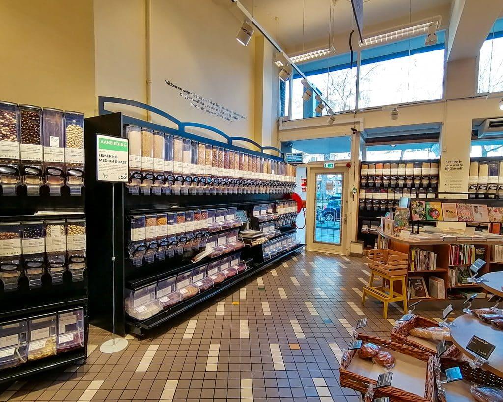 Gimsel is een geweldige ecologische supermarkt in Rotterdam waar je biologische voeding en cosmetica kunt kopen.