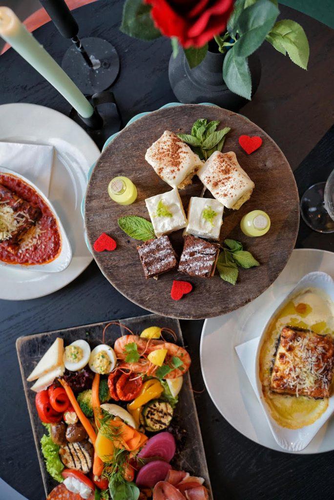 Het Valentijnsdag menu van Mangiare kan ook worden gegeten in Unplugged Hotel.