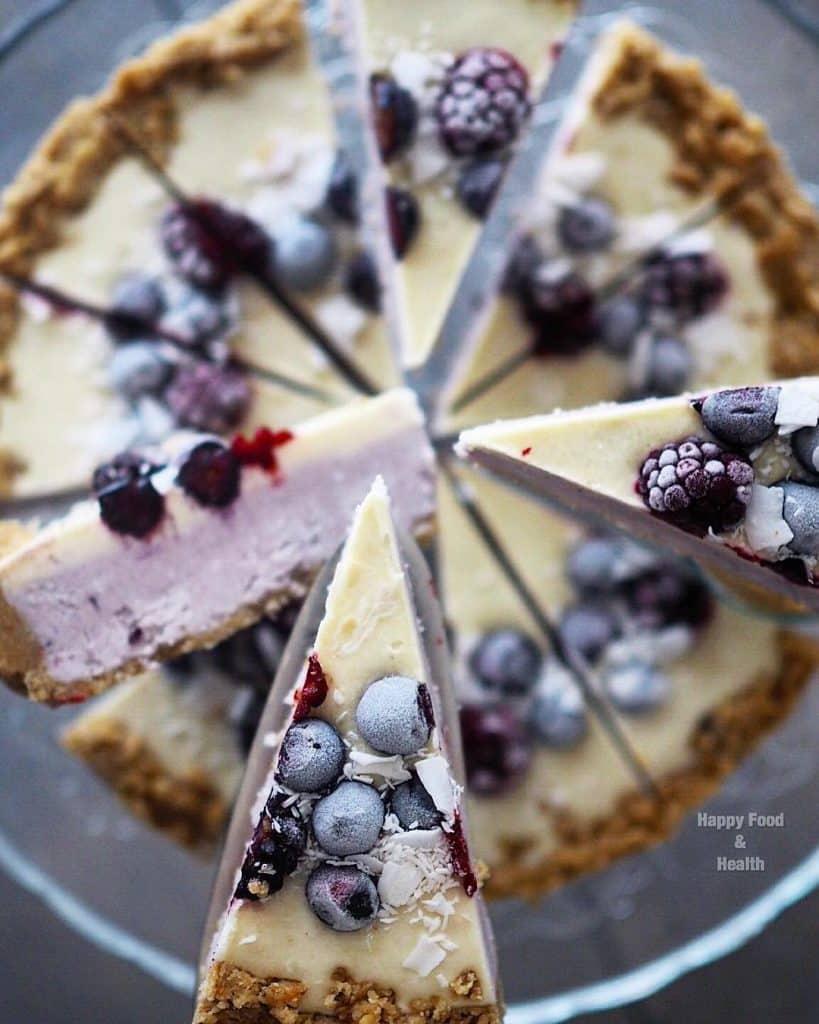 Vegan taart in Rotterdam eet je bij Happy Food and Health. In alle soorten en maten, volledig diervriendelijk en vaak ook nog eens glutenvrij.